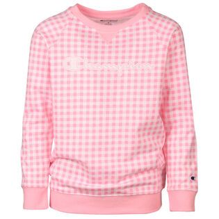 Junior Girls' [7-16] Gingham Crew Sweatshirt