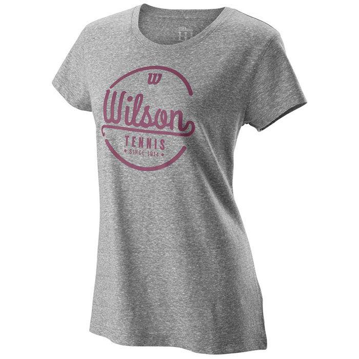 Wilson Boys B Team Solid Crew Short Sleeve Tennis T-Shirt Large White