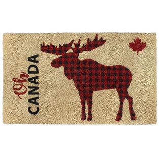 Coir Mat Plaid Moose Doormat