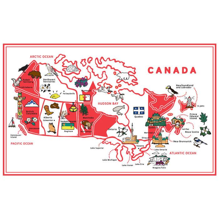 Canada Map Towel