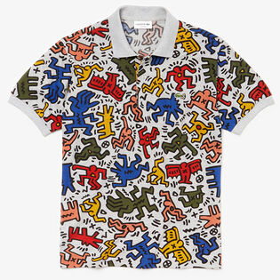 Men's Keith Haring Print Mini Pique Polo