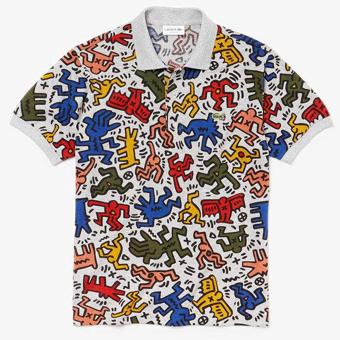 008ede8bfd44 Men s Keith Haring Print Mini Pique Polo