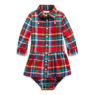 Baby Girls' [3-24M] Plaid Cotton Dress + Bloomer Set