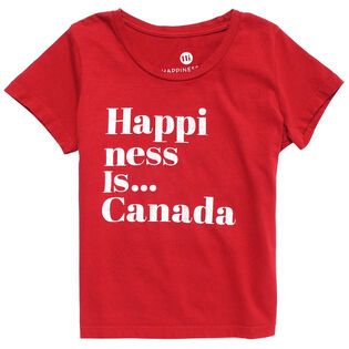 Junior Girls' [4-14] Happiness T-Shirt