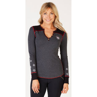 Women's Vintage Ski Henley Top