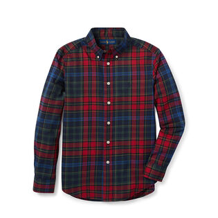 Junior Boys' [8-20] Plaid Cotton Twill Shirt