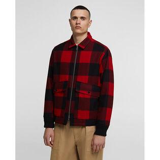 Men's Wool Zipper Buffalo Jacket