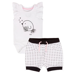 Baby Girls' [6-24M] Whole Wheat Two-Piece Short Set