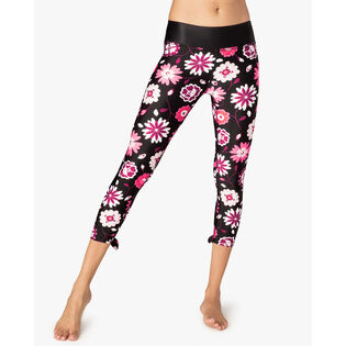 Women's Leaf Bow Capri Legging