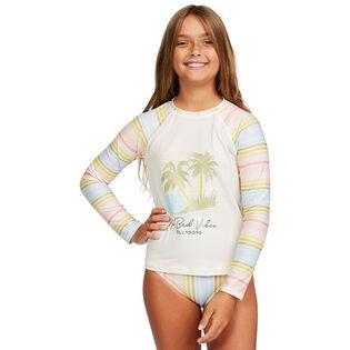 Junior Girls' [8-14] Stoked On Sun Rashguard Two-Piece Set