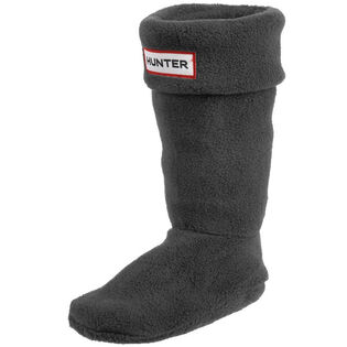 Junior Fleece Welly Socks Charcoal