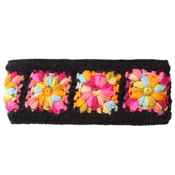 Bandeau crocheté fleuri pour femmes