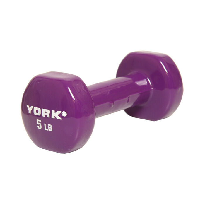 Single 5 Pound Vinyl Dumbbell Weight