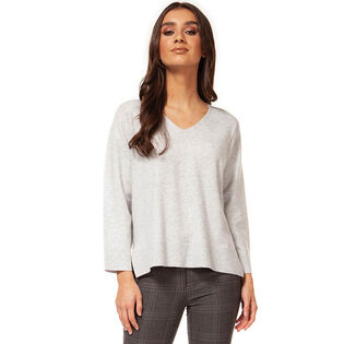 Women's V-Neck High-Low Sweater