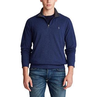 Men's Cotton Mesh Half-Zip Sweater