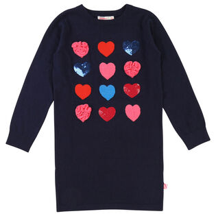 Girls' [3-8] Jacquard Hearts Dress