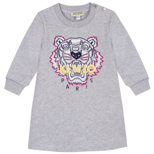 Girls' [2-4] Embroidered Tiger Sweater Dress