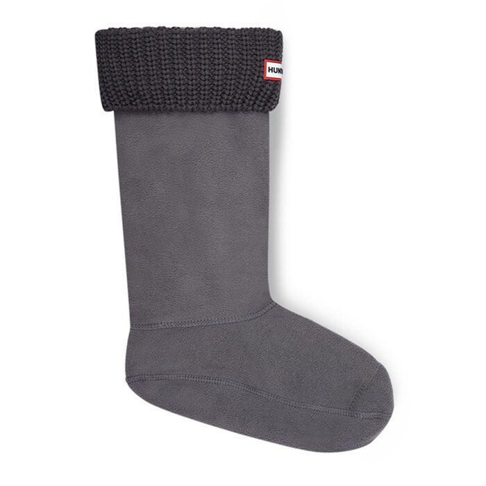 Women's Half Cardigan Stitch Boot Socks (Slate)