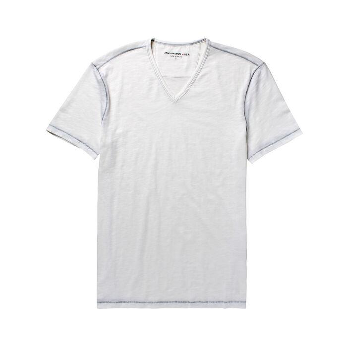 T-shirt à col en V pour hommes