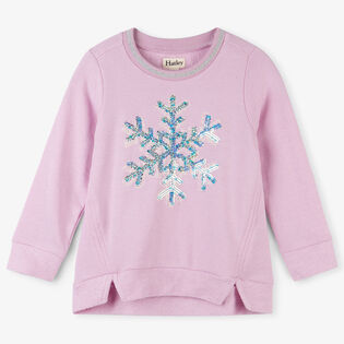 Girls' [2-6] Sequined Snowflake Sweatshirt