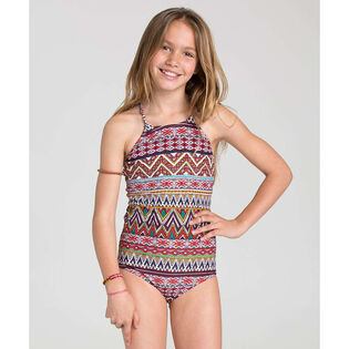 Junior Girls' [4-14] Sahara Sunset Halter One-Piece Swimsuit
