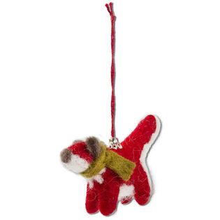 Evergreen Fox Ornament