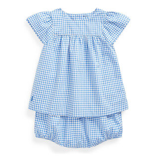 Baby Girls' [3-24M] Gingham Top + Bloomer Two-Piece Set