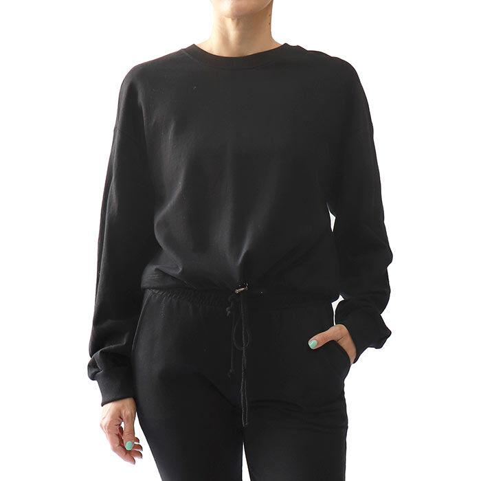 Women's Drawstring Crew Sweatshirt