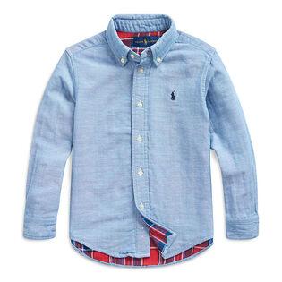 Chemise en coton double face pour garçons [5-7]