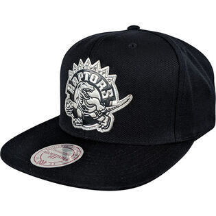 Men's Toronto Raptors Black + Silver Snapback Hat