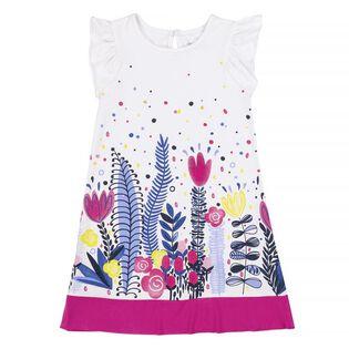 Girls' [3-6] Flower Field Print Dress