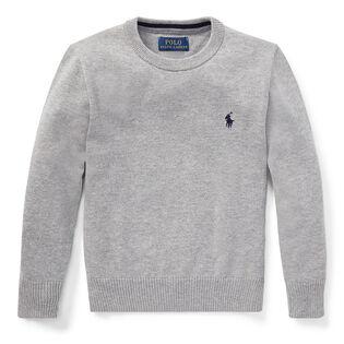 Boys' [2-4] Cotton Crew Neck Sweater