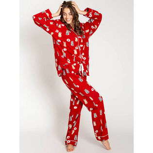 Women's Meow Flannel Two-Piece Pajama Set