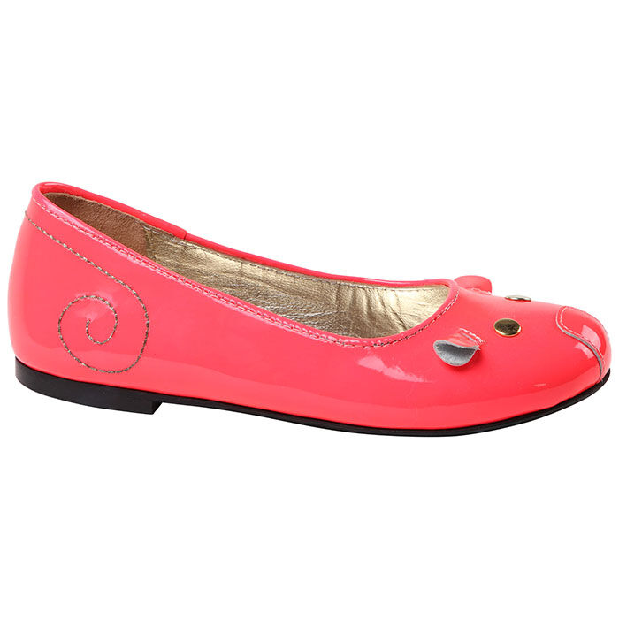 Juniors' [11-5] Leather Mouse Ballerina Flat