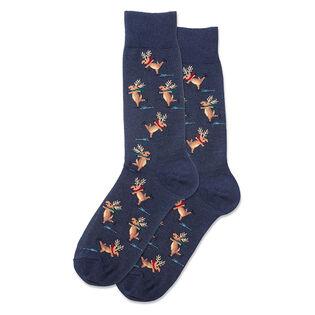 Men's Skating Reindeer Sock