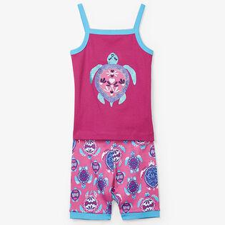 Pyjama deux pièces à jolies tortues marines pour fillettes [2-7]