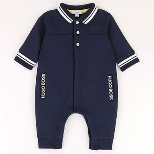 Baby Boys' [3-18M] Striped Trim Jersey Jumpsuit