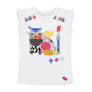 Girls' [3-6] Cat Print T-Shirt