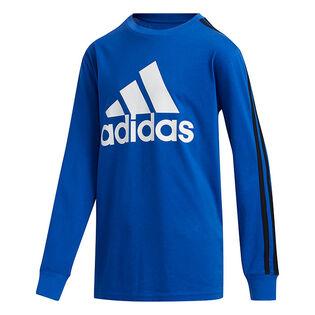 Junior Boys' [8-16] Badge Of Sport Stripe Long Sleeve T-Shirt