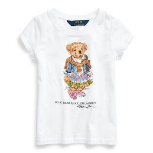 Girls' [2-4] Madras Bear Cotton Jersey T-Shirt