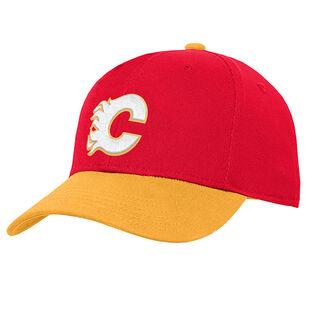 Kids' [4-7] Calgary Flames Two-Tone Cap