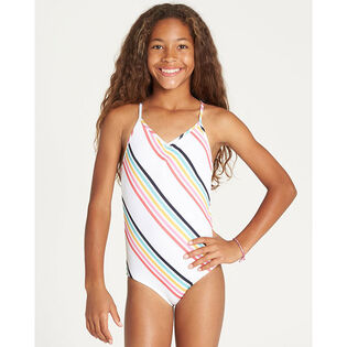 Junior Girls' [4-14] Seeing Rainbows One-Piece Swimsuit