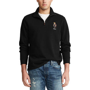 Men's Holiday Bear Estate-Rib Pullover Top