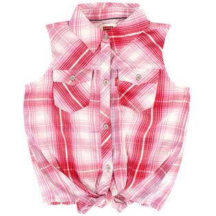 Girls' [4-6X] Tie Front Tank Shirt