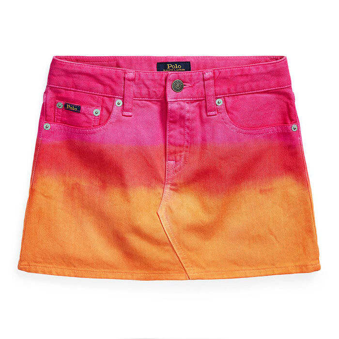 Junior Girls' [7-16] Dip-Dyed Denim Skirt