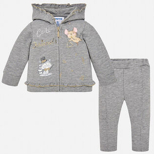 Baby Girls' [12-36M] Music Motif Two-Piece Tracksuit