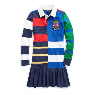 Junior Girls' [7-16] Striped Cotton Rugby Dress