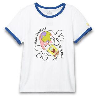 Junior Girls' [8-16] SpongeBob Best Buddies Ringer T-Shirt