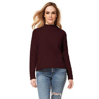 Chandail en tricot à col montant pour femmes