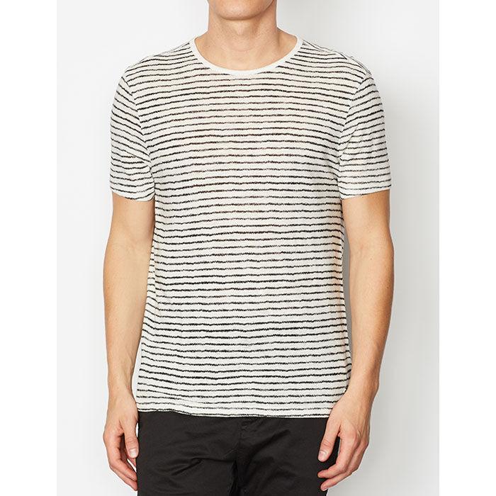 Men's Adrian Nervous Stripe Crew T-Shirt